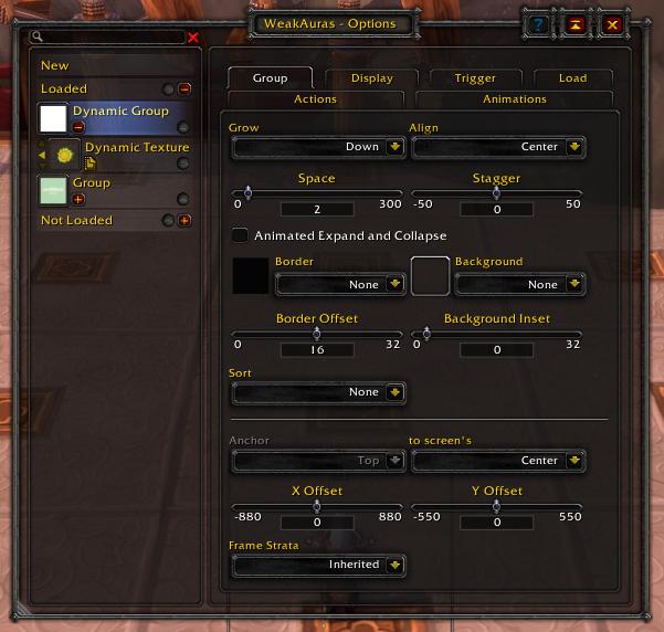 Aura Interface-Dynamic Group