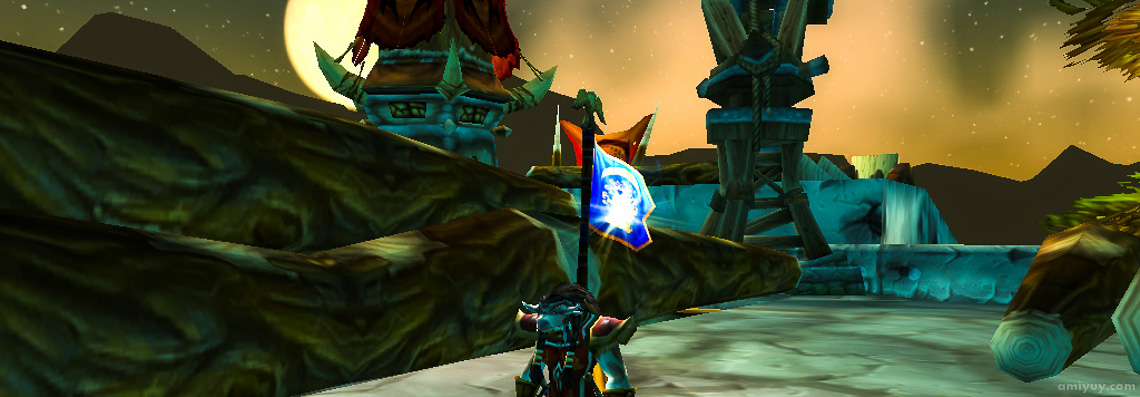 Amahn holding the flag in Warsong Gulch.